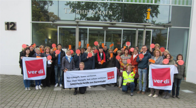 Aktion in Darmstadt am 21. 10.2015