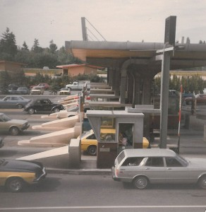 Ancient (1979) toll booth on the 520 bridge