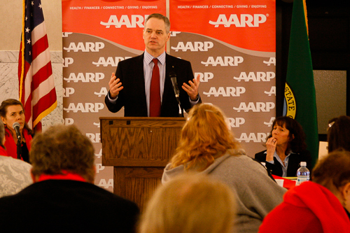 Ross addresses AARP meeting at the Capitol