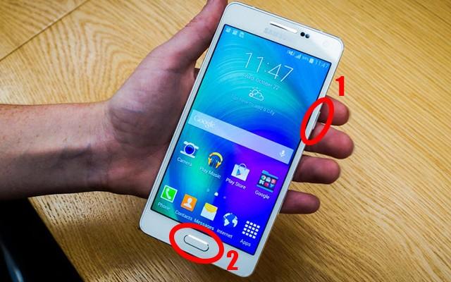 Samsung Galaxy A3, A5, A7 Como fazer uma captura de tela