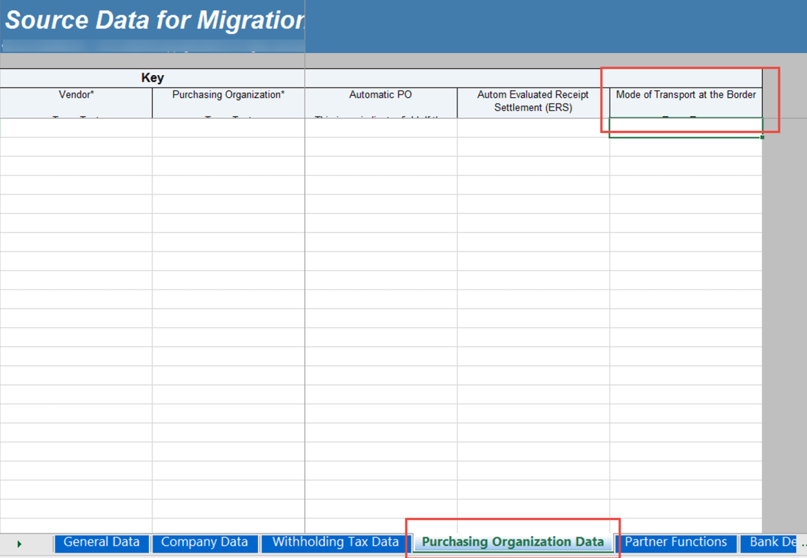 S 4 hana data migration for Data migration document template