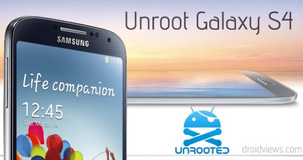 How to UNROOT your Galaxy S4