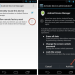 Enabling Android Device Manger