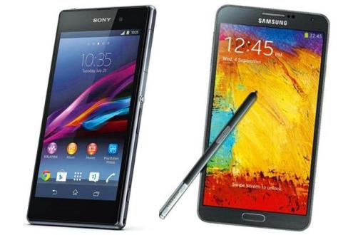 Samsung Galaxy Note 3 vs. Sony Xperia Z1