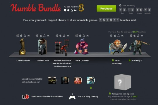 Humble Bundle PC and Android 8