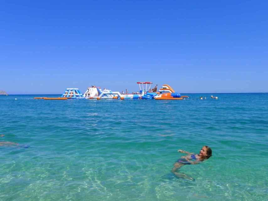 Playa del Cap Blanch, en el municipio de Altea.