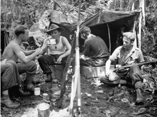 Soldados australianos en el frente del Pacífico