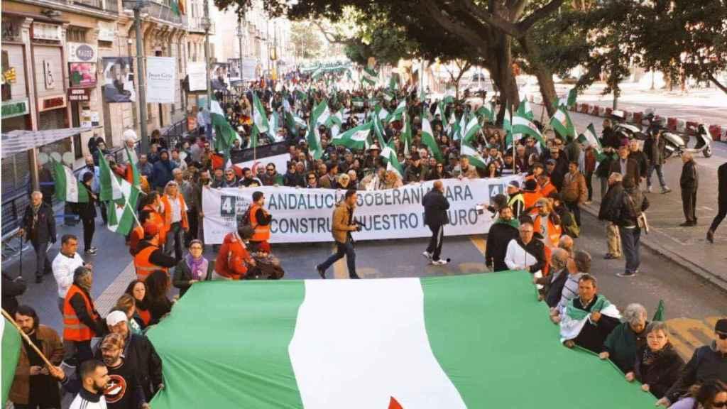 La manifestación de Málaga aglutinó , según los independentistas, a 15.000 personas