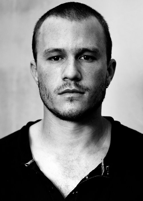 Image result for heath ledger black and white