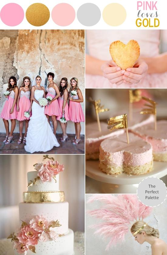 pink and gold wedding theme sparkly pink wedding ideas