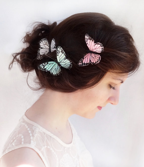 bridal butterfly hair pins
