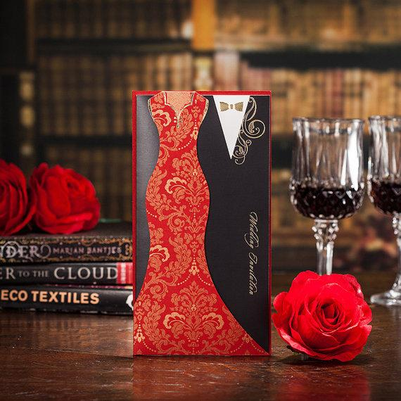 Red And Black Wedding Invitations To Inspire You How Make The Invitation Look Enchanting 4