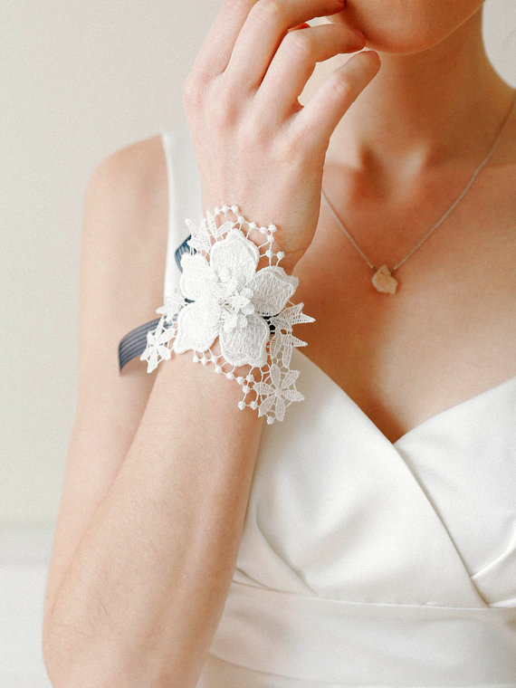 Wedding Corsage Decorated With White Flower 2261702