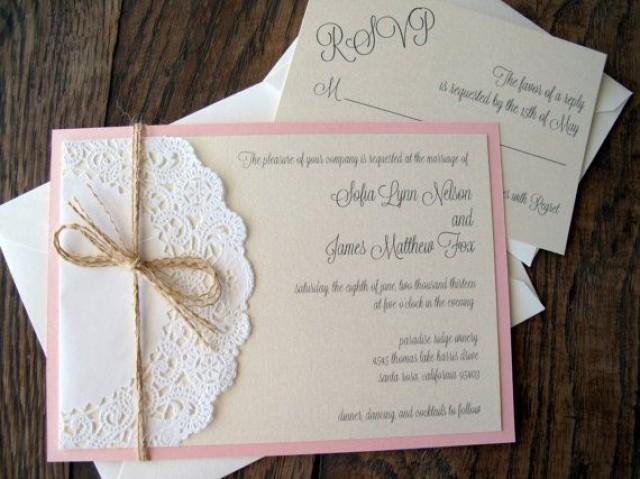 Lace Doily Vintage Wedding Baby Shower Invitation Invite