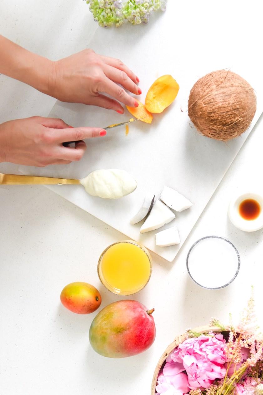 recette batonnet glace coco-mangue sans sucre © Plume et Caramel