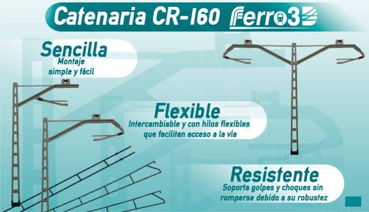 Catenaria CR-160 Renfe Ferro3D
