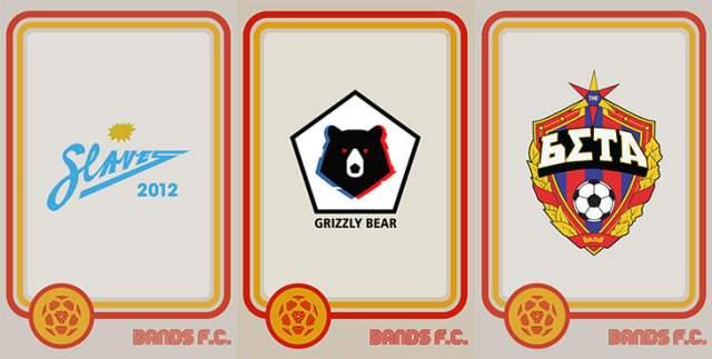 Британские дизайнеры Band F.C. скрещивают логотипы футбольных клубов с известными музыкальными группами (25 фото)
