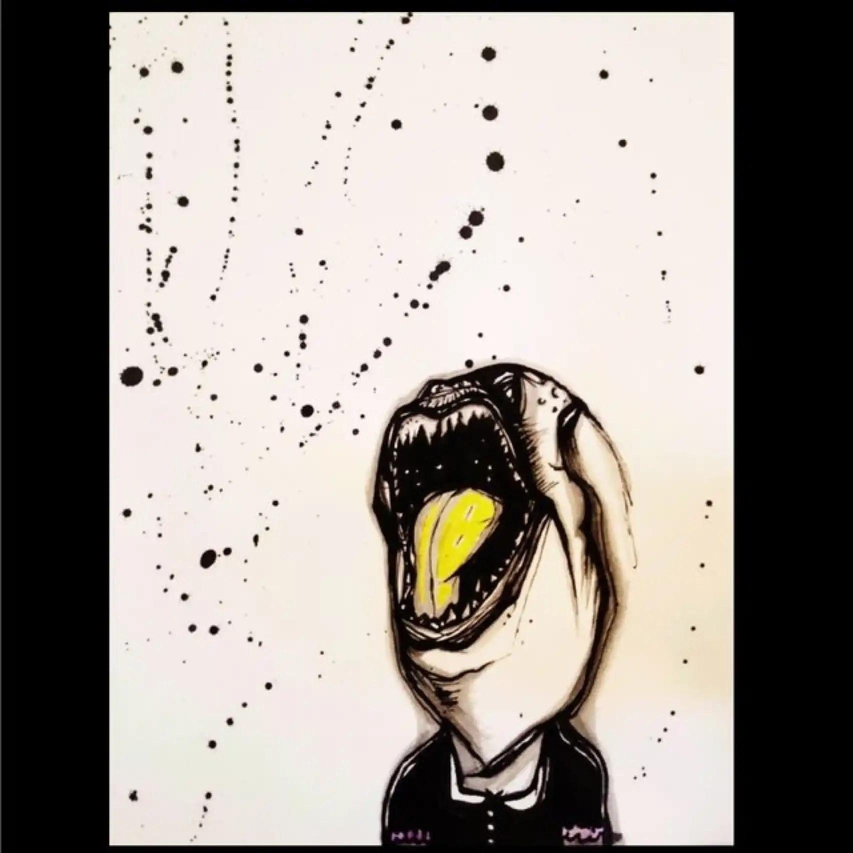 Uno de los siniestros cuadros de Frances Bean.