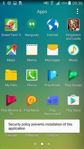 Microsoft Intune-Samsung KNOX : aloowed or blocked apps
