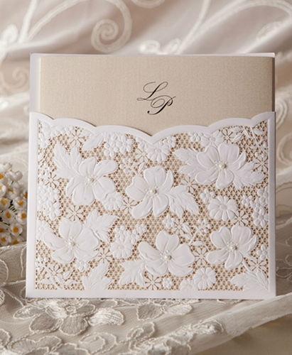 lace pocket pas cher fleur d invitation de mariage cartes 1364138 weddbook