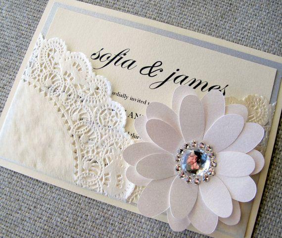 Rustic Wedding Invitation Anista Designs