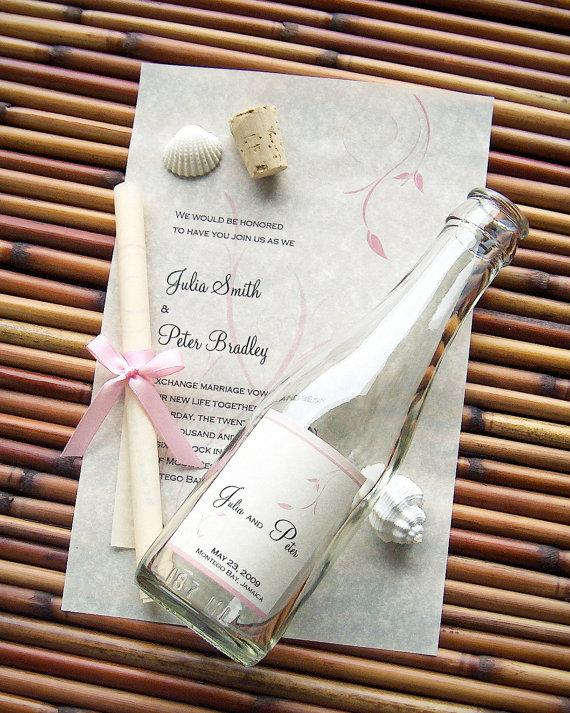 Message In A Bottle Signature Wedding Invitation Sle Bliss New