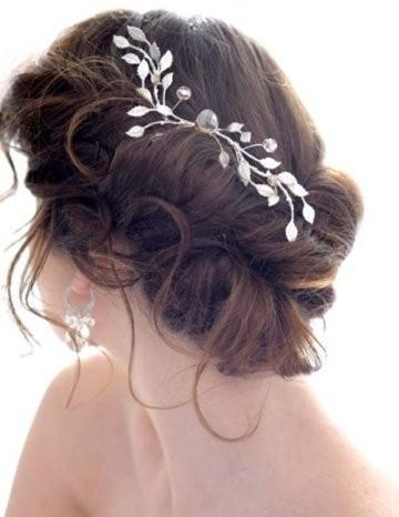 bun hair model gorgeous messy side bun wedding hair weddbook