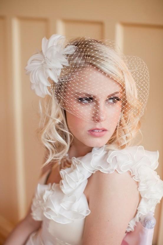 vintage birdcage veil