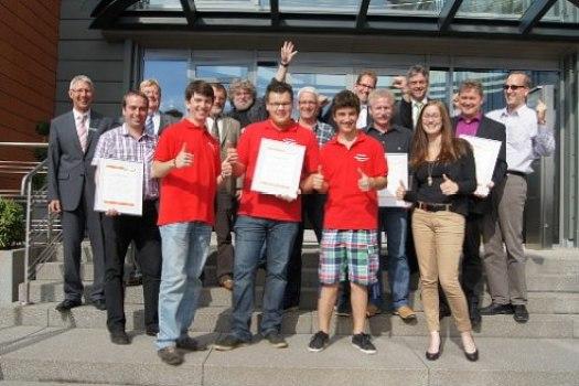 Im Bild die Preisträger aus Piesport, Longkamp, Morbach unddem Jugend-Orchester-Mittelmosel. TV-Foto: Christina Bents