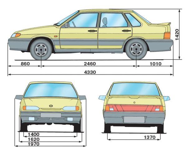 ВАЗ 2115 | Технические характеристики автомобилей | Самара 2