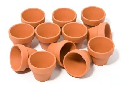 pots en terre cuite 4 cm de hauteur 4 5 cm o