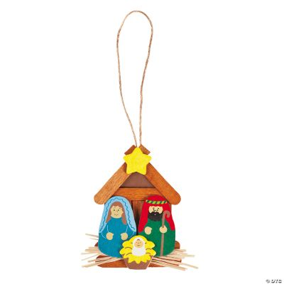 Nativity Christmas Ornament Craft Kit Oriental Trading