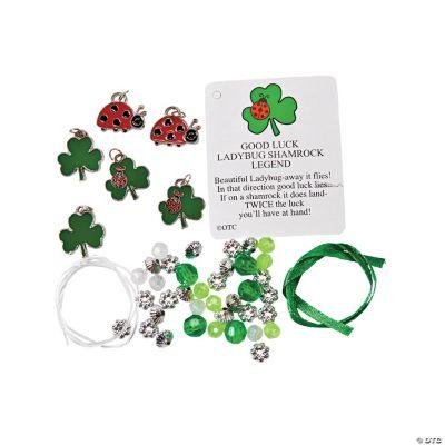 Ladybug Shamrock Charm Bracelet Craft Kit - Oriental Trading
