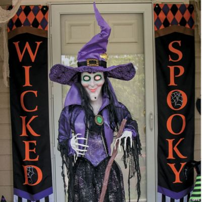 solid purple halloween banner