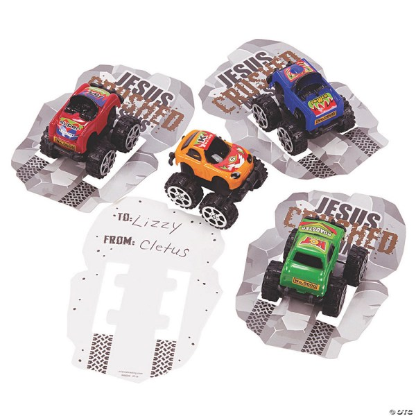 Jesus Crushed My Sins Pull-Back Trucks with Card ...