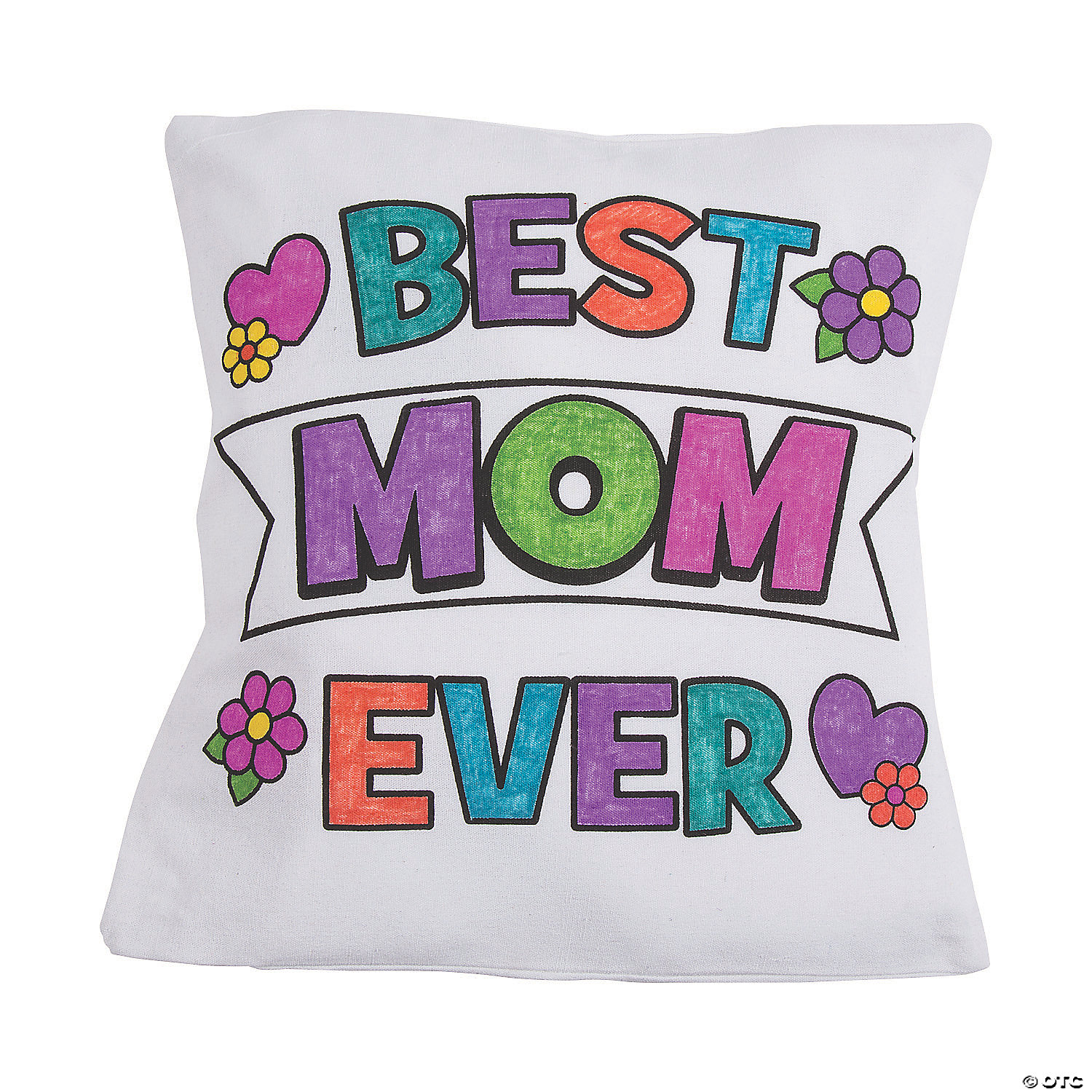 color your own mother s day canvas pillow cover