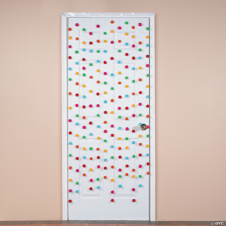 fiesta pom pom door curtain
