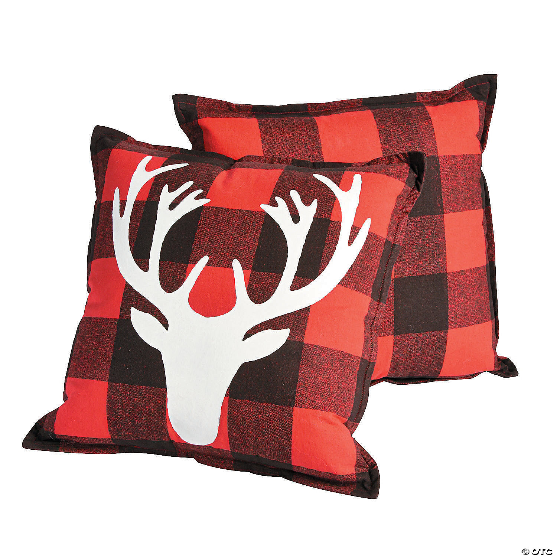 Holiday Buffalo Plaid Throw Pillows