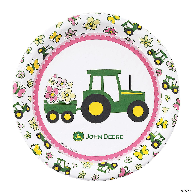 john deere pink paper dinner plates 8 ct