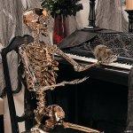 Large Gold Posable Skeleton Halloween Decoration