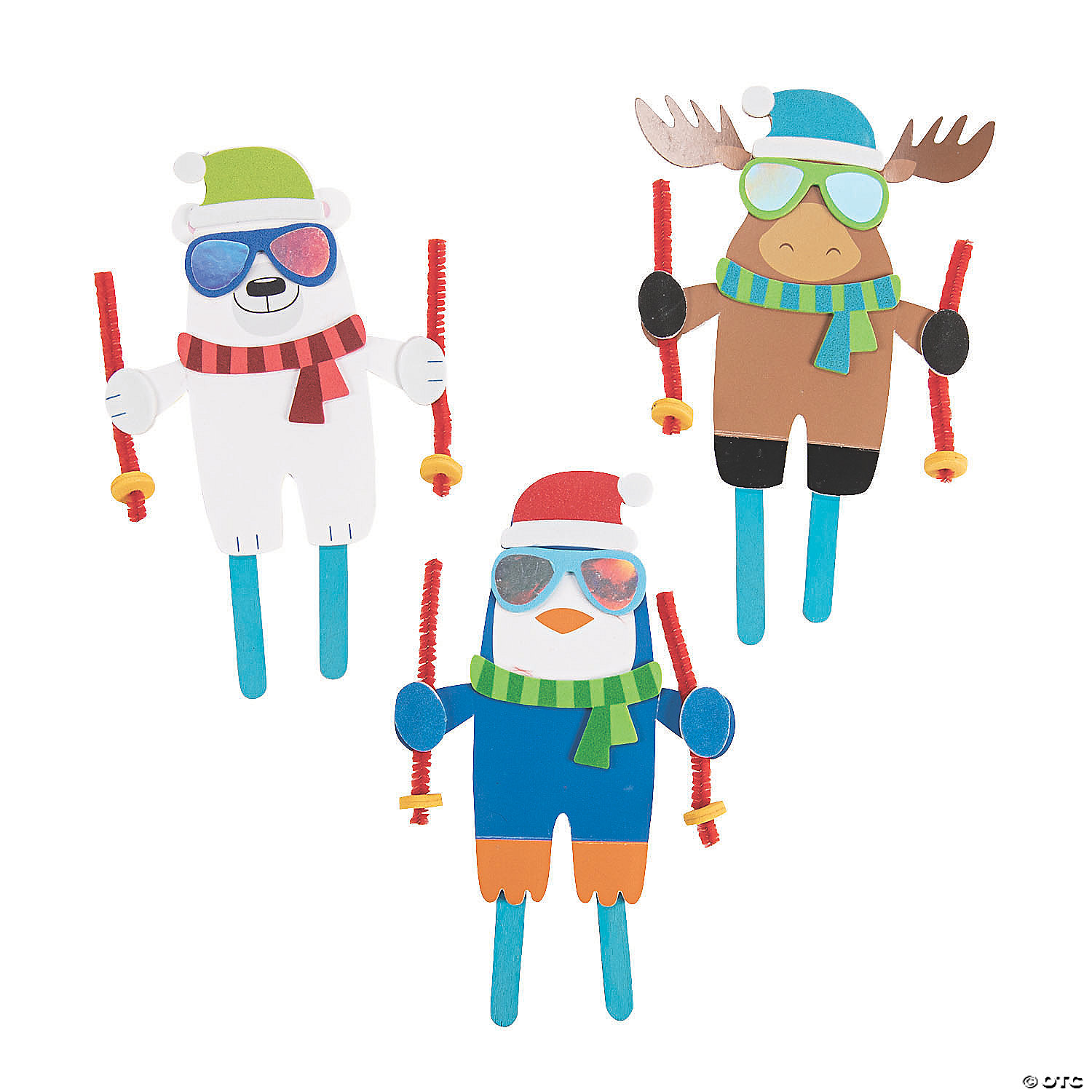 Doing crafts with your kids can help develop their coordination, improve visual processing abilities, hone fine motor skills in the smallest kids, and allow children of all ages to express themselv. Skiing Craft Stick Craft Kit Makes 12