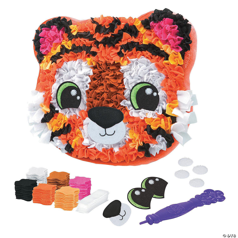 tiger pillow plush craft