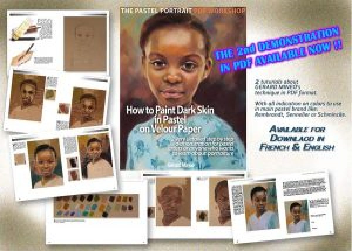 African girl pastel portrait pdf