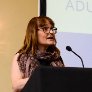 Judy Eaton presenting