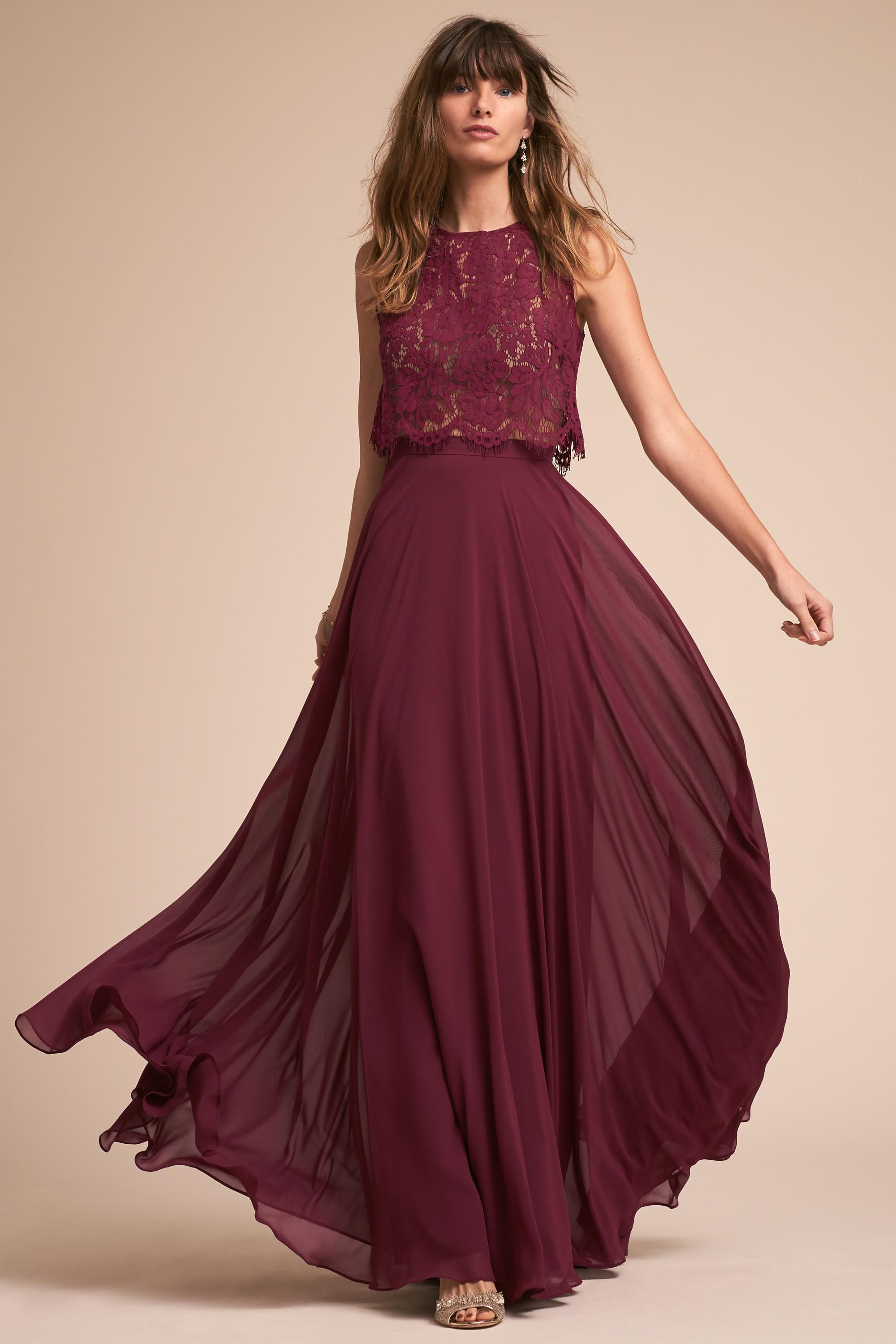 Cleo Top Black Cherry In Bridal Party BHLDN