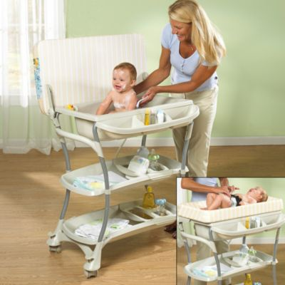 Primo Euro Spa Baby Bath Tub And Changing Table Bed Bath