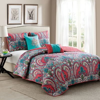 VCNY Casa Real Quilt Set In PinkTurquoise Bed Bath