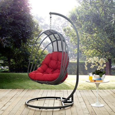 outdoor patio swing chair with stand Modway Whisk Patio Stand-Alone Swing Chair - Bed Bath & Beyond