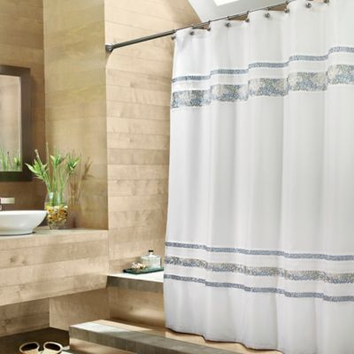 Croscill Spa Tile Fabric Shower Curtain Bed Bath Amp Beyond