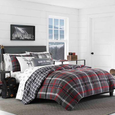 Eddie Bauer 174 Willow Plaid Flannel Comforter Set Bed Bath